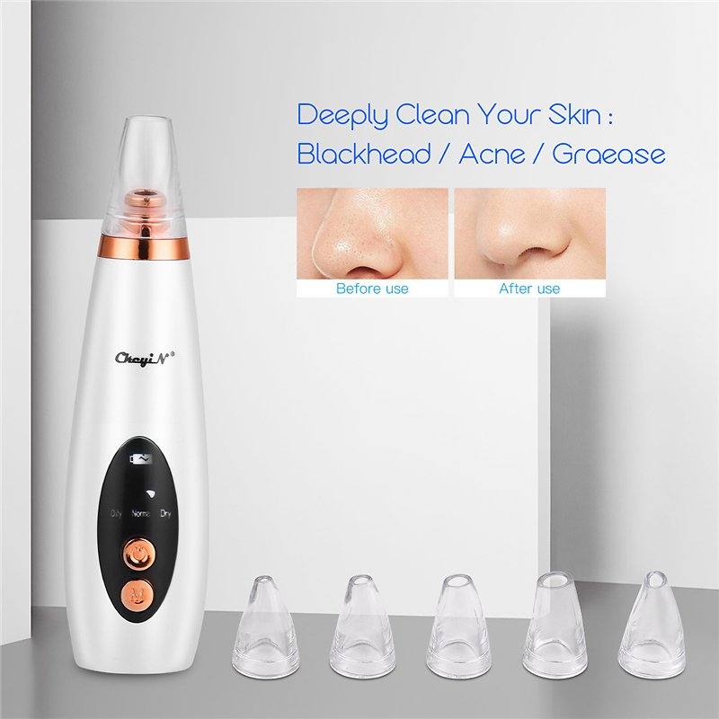 Face Deep Cleaning Skin Scrubber Microdermabrasion Vacuum Suction Blackhead Remover Facial Pore Cleaner Skin Peeling Machine 45
