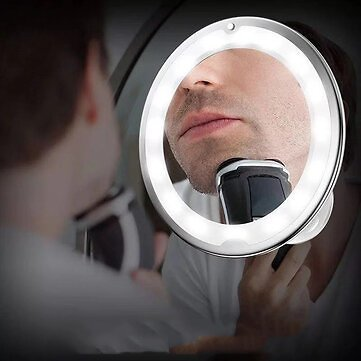 Makeup Mirror 10X Magnifying Vanity Mirrors - 3 Color Modes & 36 LED Cosmetic Mirror, High Definition, Touch Control, 360°Rotation & Powerful Suction Cup for Bathroom Shower TravelMakeupfromHealth,Beauty & Hairon Ba