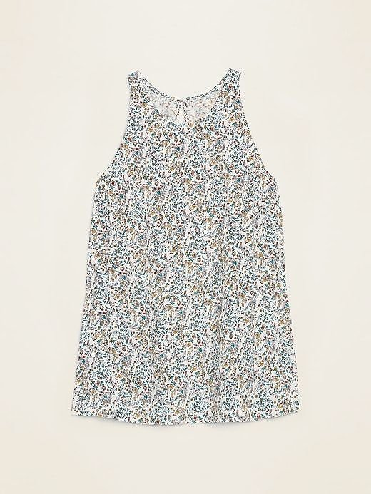 Printed High-Neck Tank Top for Women