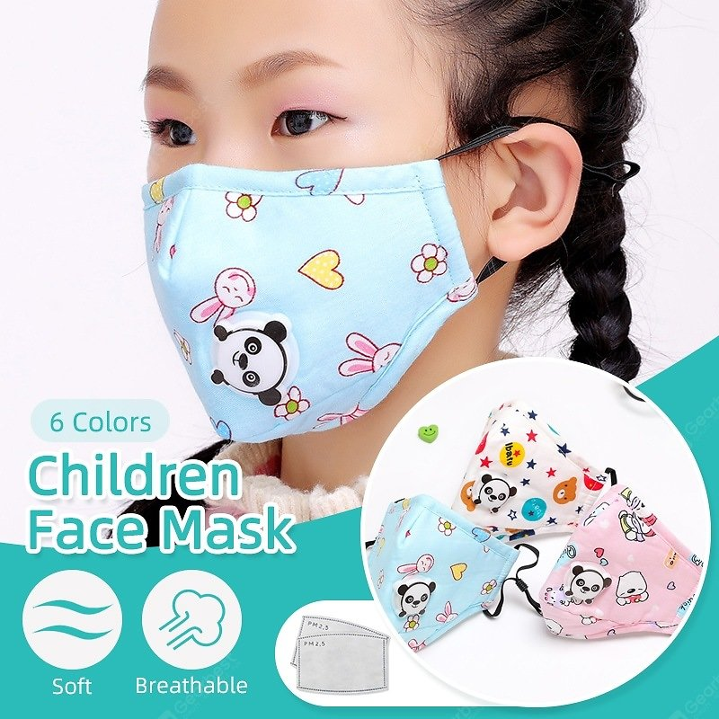 Kids Children Cartoon Face Mask with 2 Filter Pads Cotton Activated Carbon Mask Non-medical Mask Sale, Price & Reviews   Gearbest