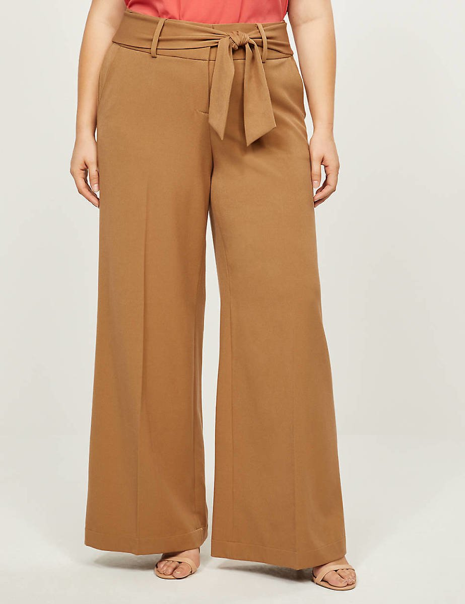 Tailored Stretch High-Rise Wide Leg Pant