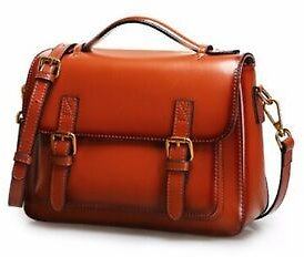 Genuine Leather Handbag / Shoulder Bag / Satchel / Briefcase