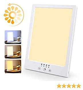 Light Therapy Lamp, YBLNTEK Happy Therapy Light UV Free Sun Lamp 12000 Lux LED White Therapy Light with Timer Function and Touch Control for Home Office Use