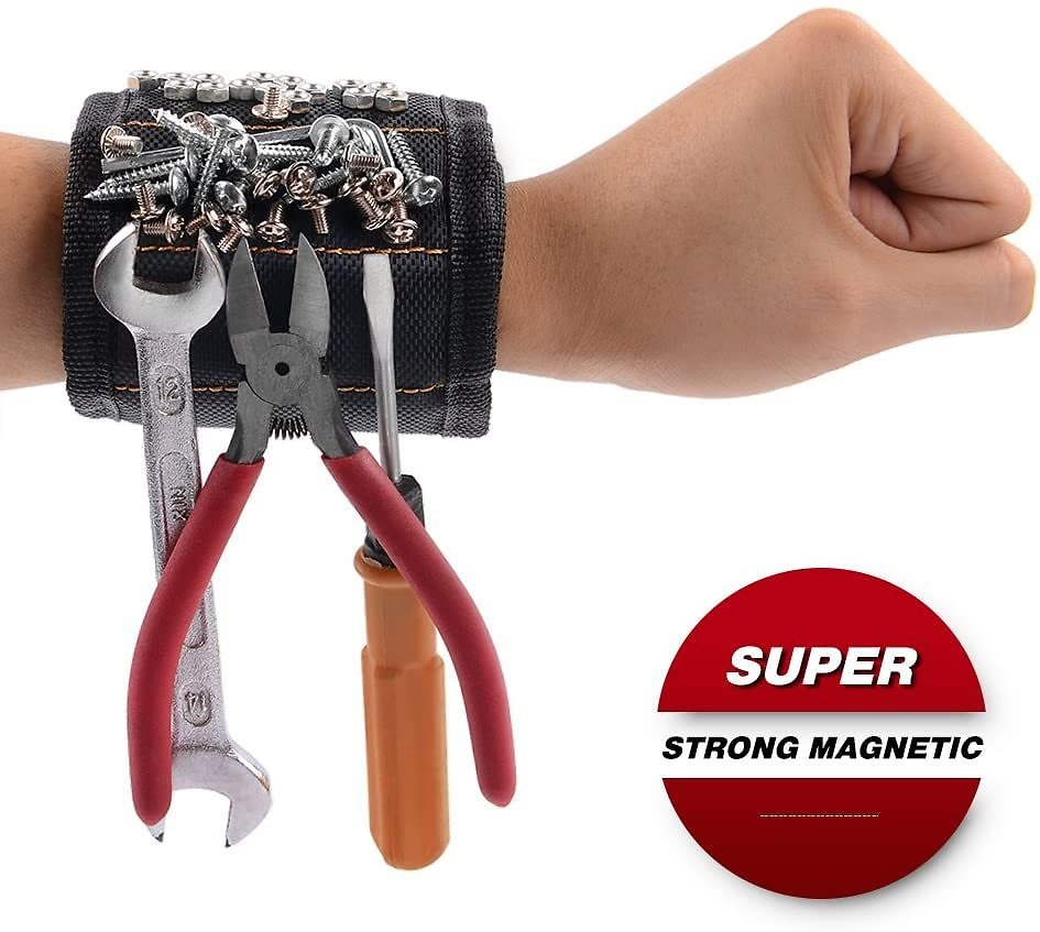 GOOACC GRC-61 1 Pack Wristband with 15 Strong Magnets Screws Nails Drill Bits Holding Best Unique Tool Gift for DIY Handyman Father Dad Husband Boyfriend Men Women,2 Years Warranty: Automotive