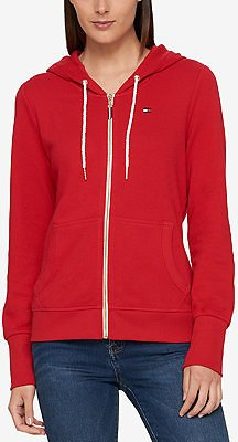 Tommy Hilfiger French Terry Hoodie, Created for Macy's & Reviews - Tops - Women