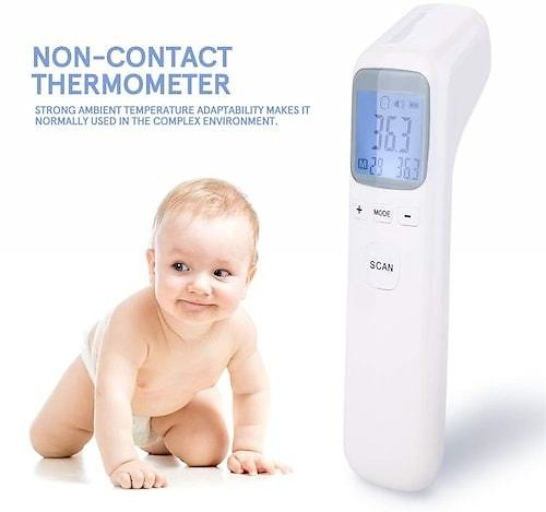 Non Contact 3-in-1 Infrared Forehead and Ear Thermometer Children Adults Body Thermometer Digital