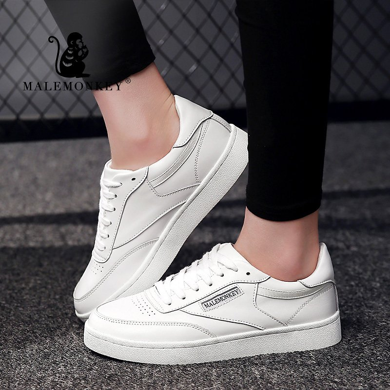 MALEMONKEY 480 Women Shoes Flats Fashion Casual 2020 Spring Ladies Walking Woman Lace-Up Mesh Breathable Female Sneakers White
