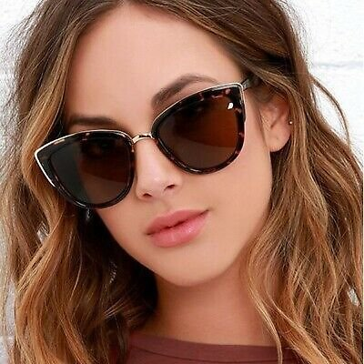 Vintage Cat Eye Women Gradient Outdoor UV400 Eyewear Sunglasses Polarized Mirror