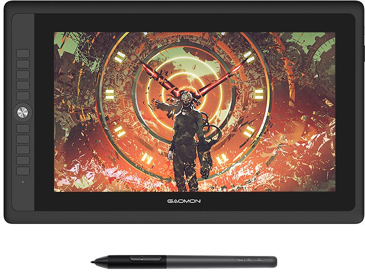 """GAOMON PD156PRO Graphics Tablet Display for Drawing 15.6"""" Full-Laminated IPS HD Screen with 8192 Levels Battery-Free Pen"""
