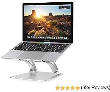 Nulaxy Laptop Stand, Ergonomic Height Angle Adjustable Computer Laptop Holder Compatible with MacBook, Air, Pro, Dell XPS, Samsung, Alienware All Laptops 10-17.3