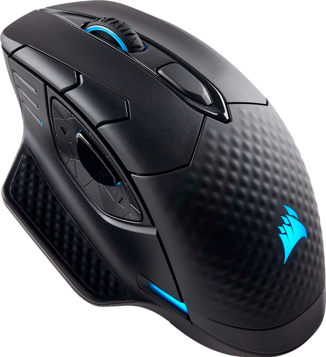 CORSAIR DARK CORE SE Wireless Gaming 9 Button Optical Mouse with RGB Lighting and Qi Wireless Charging Black CH-9315311-NA