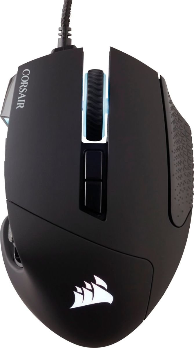 CORSAIR Scimitar PRO Wired Optical Gaming Mouse with RGB Lighting Black CH-9304111-NA
