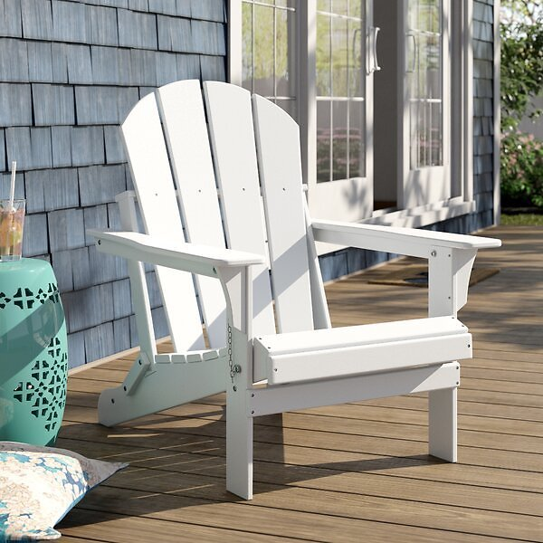 Alger Plastic/Resin Folding Adirondack Chair