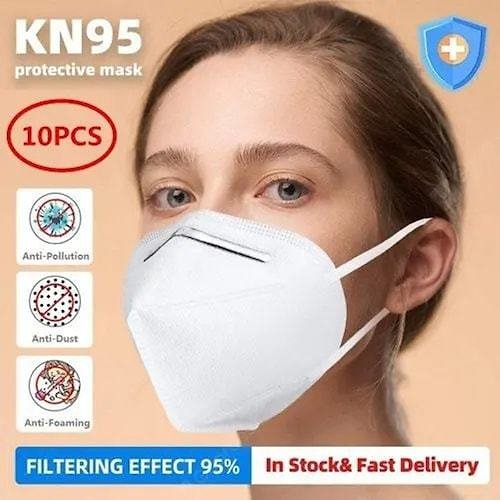 KN95 Disposable Masks Soft Breathable Face Mask Anti-Dust Safety Protective Non Medical