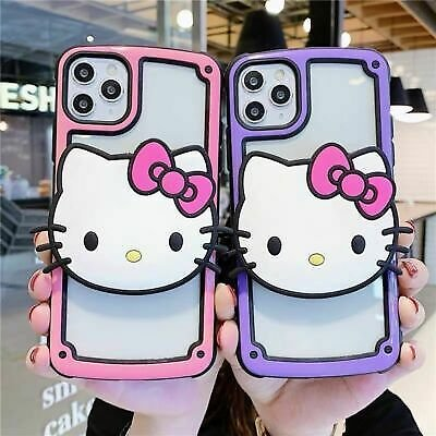 Cute Hello Kitty Case For IPhone 11 Pro Max XR XS 8 7 Disney Stand Bracket Cover