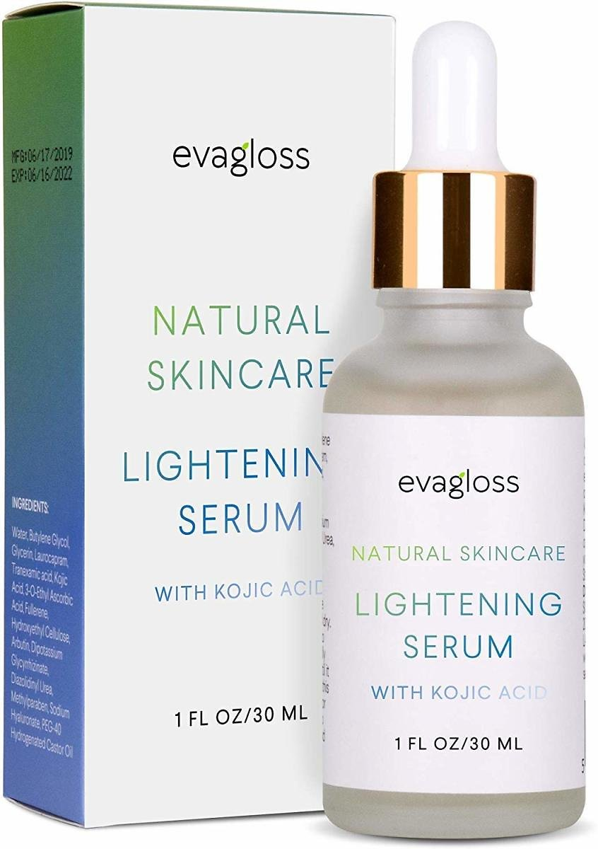 Evagloss Lightening Serum with Kojic Acid for Face & Body, 30ml