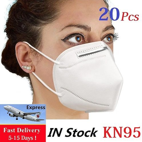 Fast Shipping 20PCS KN95 N95 Face Mouth Masks Respirator Mask Non-medical Protective 4-Layers Mask