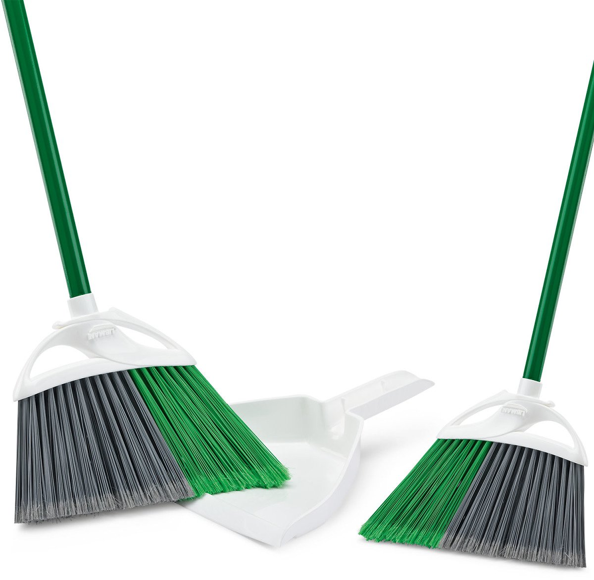 Libman 2 Angle Brooms with 1 Dustpan Value Pack