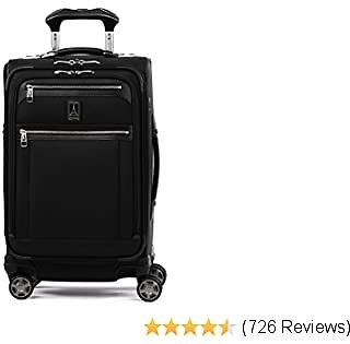 Travelpro Platinum Elite-Softside Expandable Spinner Wheel Luggage, Shadow Black, Carry-On 21-Inch