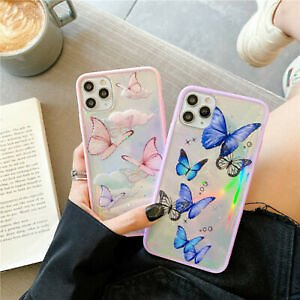 Ins Bling Butterfly Case Butterflies Cover for IPhone 11 Pro Max XR X XS 8 Plus