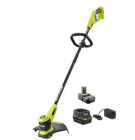 RYOBI ONE+ 18-Volt Lithium-Ion Electric Cordless String Trimmer 2.0 Ah Battery and Charger Included-P20100