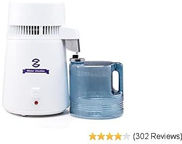 CO-Z Water Distiller, Water Distillers, Distilling Pure Water Machine for Home Countertop Table Desktop, 4L Distilled Water Making Machine, 4 Liter Water Purifier to Make Clean Water for Home
