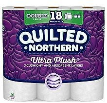 Quilted Northern Ultra Plush Toilet Paper, 9 Rolls, Bath Tissue