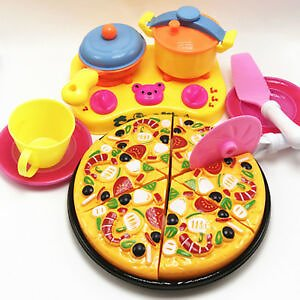☆free Shopping ☆9Pcs Children Kids Pizza Cutting Kitchen Cooking Pretend Role Play Toy Set Beamy