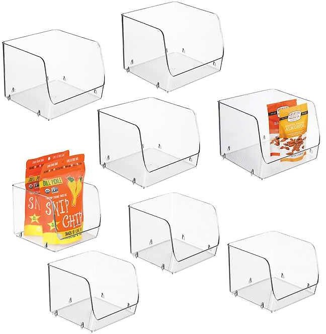 IDesign Stacking Open Front Pantry Bins, 8-piece Set