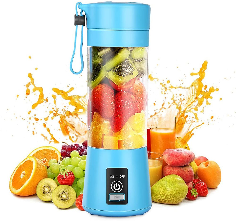 6 Blade Portable Blender 380ML Kitchen MINI Juicer Electric Bottle USB Charging Blender Bottle Mixer Juice Food Smoothie Maker