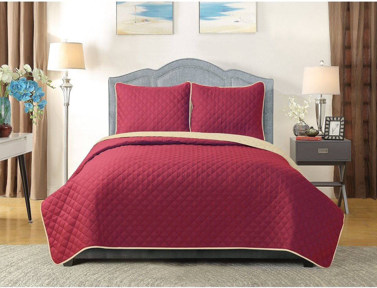 Harper Lane Reversible University Pride 3-piece Quilt Set, Queen (3 Colors)