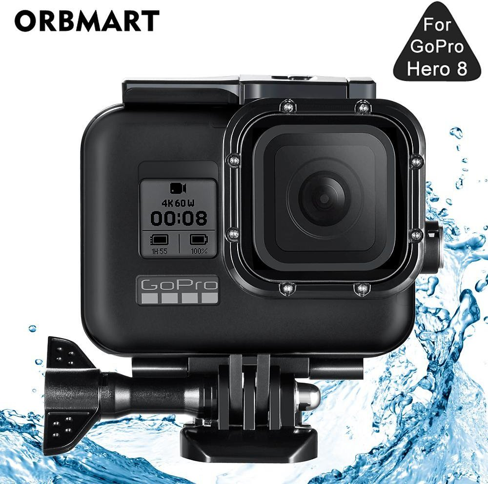 US $10.59 47% OFF|Black 60M Waterproof Housing Case for GoPro Hero 8 Black Dive Protective Underwater Diving Cover for Go Pro 8 Accessories|Sports Camcorder Cases| - AliExpress