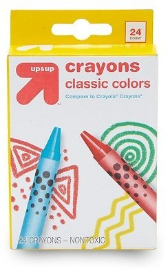 24ct Crayons Classic Colors - Up&Up™