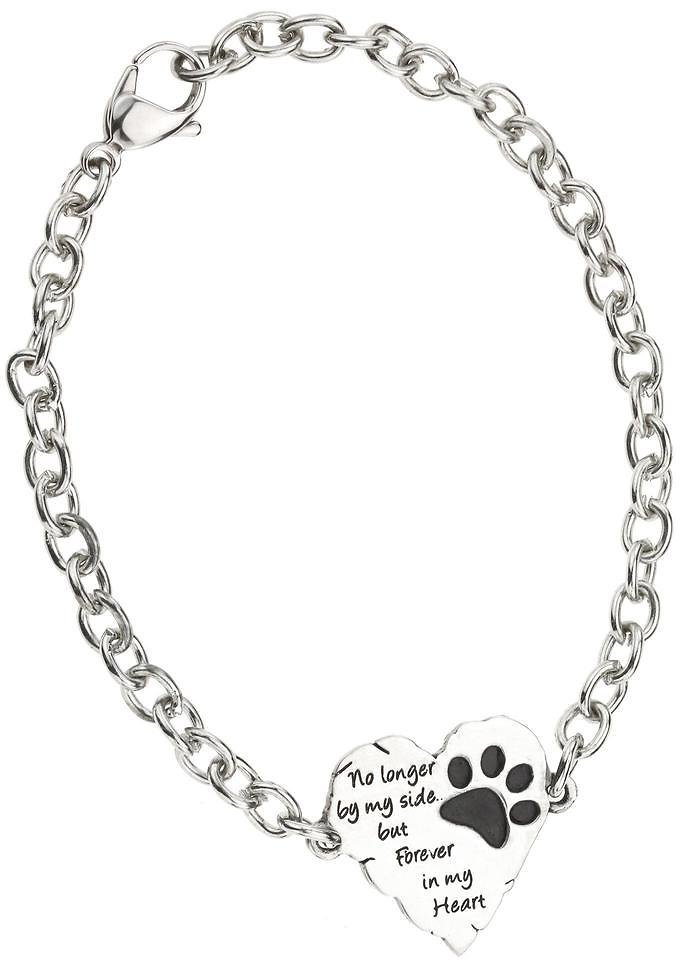 Forever In My Heart Paw Print Remembrance Bracelet