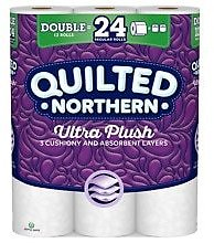 Quilted Northern Ultra Toilet Paper, Double Chimney, Bath Tissue