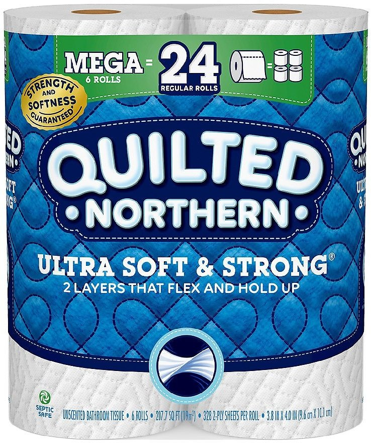 Quilted Northern Ultra Soft & StrongMega Rolls328.0ea x 6 pack