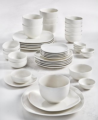 Tabletops Unlimited Inspiration By Denmark Soft Square 42-Pc. Dinnerware Set