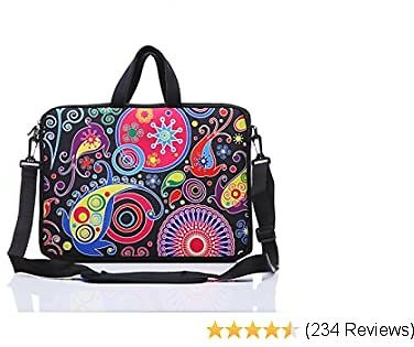 11-Inch to 12-Inch Neoprene Laptop Sleeve Case Bag with Shoulder Strap For 11