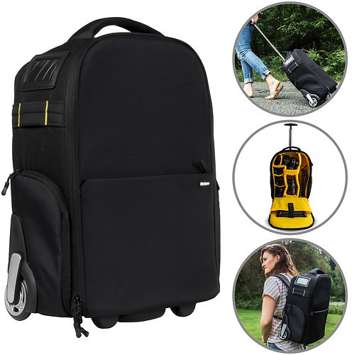 Deco Gear 3-in-1 Travel Camera Case - Waterproof Trolley, Backpack, Carry On Bag
