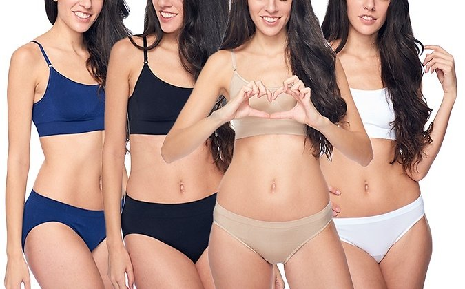 Up to 50% Off - Women's Seamless Bikini Panties (4-Pack). Plus Sizes Available.
