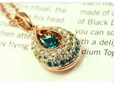 Fashion Women Jewelry Angel Crystal Teardrop Pendant Necklace Mother's Day Gift
