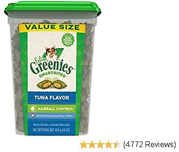 16oz. Greenies Feline Smartbites Hairball Control for Cats (Tuna Flavor) with 55% OFF