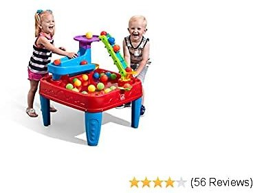 Step2 Stem Discovery Ball Table | Wet Or Dry Water Table & Activity Table | Toddler Ball Play Table | 10 Balls Included