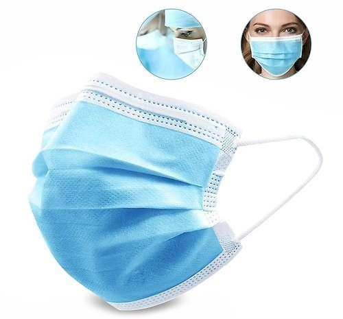 3-layer Protective Disposable Masks Dustproof PM2.5 3 Ply Face Mask Anti Particulate Respirator 50pcs