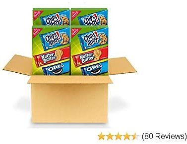 Amazon: Big Discount On Nabisco Cookie Variety Pack, OREO, Nutter Butter, CHIPS AHOY!, 4 – 12 Pack Boxes