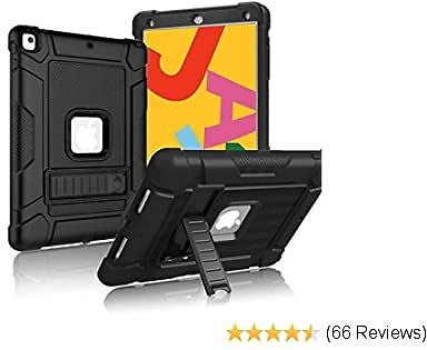 5% OFF Coupon LTROP for IPad 7th Generation Case IPad 10.2 Case with Kickstand Black