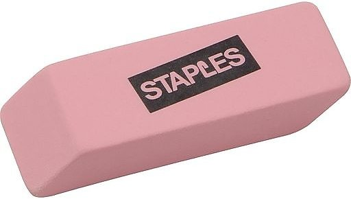 Staples® Pink Wedge Erasers, 3/Pack At Staples (In Store Only)