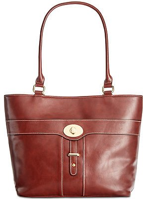 Giani Bernini Turn-Lock Glazed Tote, Created for Macy's & Reviews - Handbags & Accessories