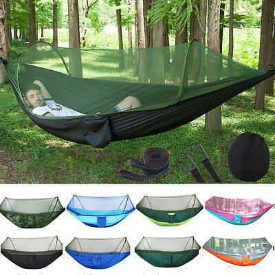 Double Person Outdoor Travel Camping Tent Hanging Hammock Bed Mosquito Net Set 690158265989