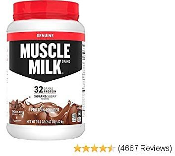 Muscle Milk Genuine Protein Powder, Chocolate, 32g Protein, 2.47 Pound, 16 Servings